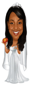 Peachies standing caricature 109 x 309
